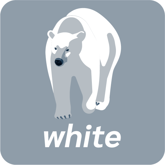 white colours anglais