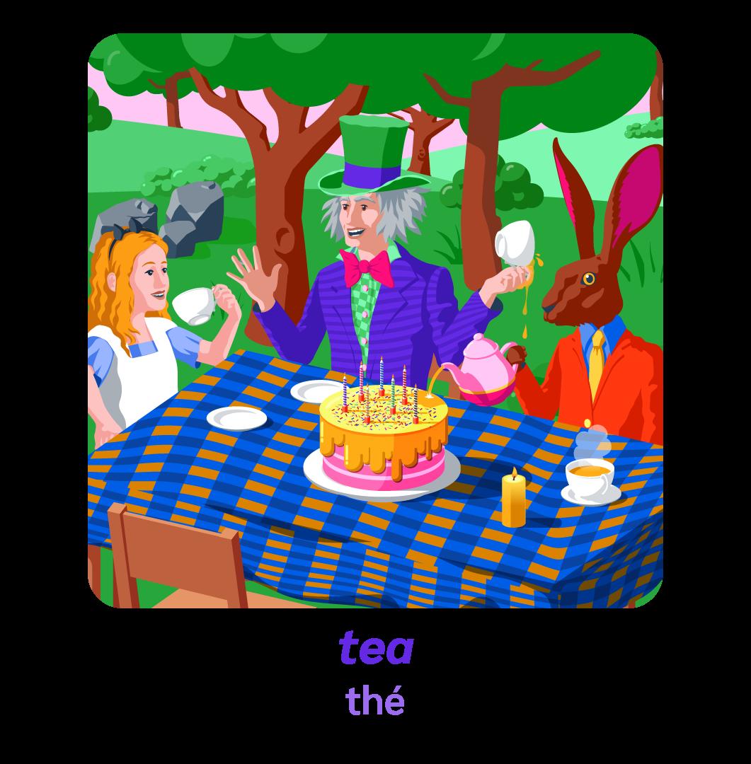 Alice pays des merveilles wonderland anglais tea thé