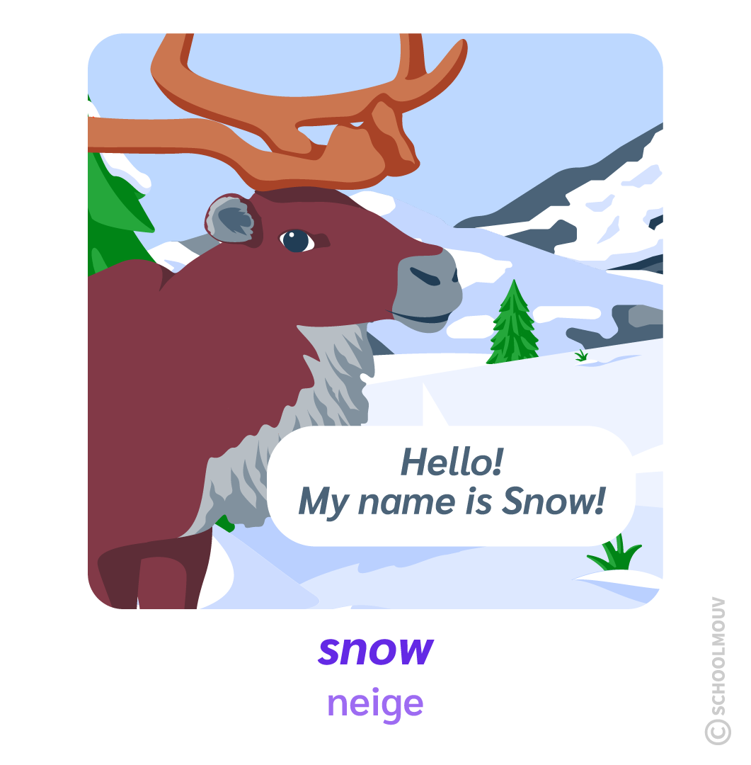 snow neige renne Noël Christmas anglais