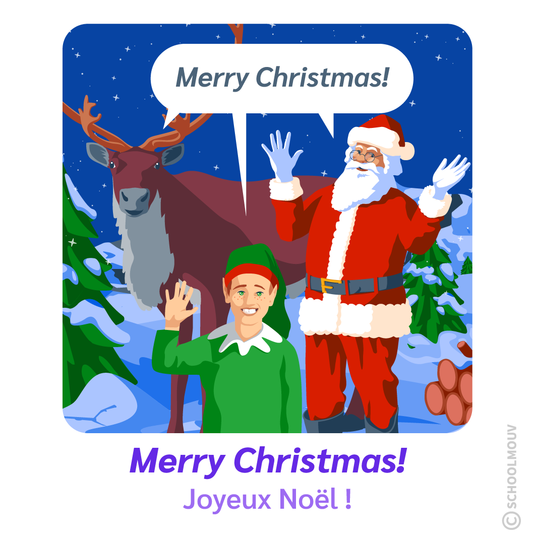 joyeux Noël merry Christmas anglais