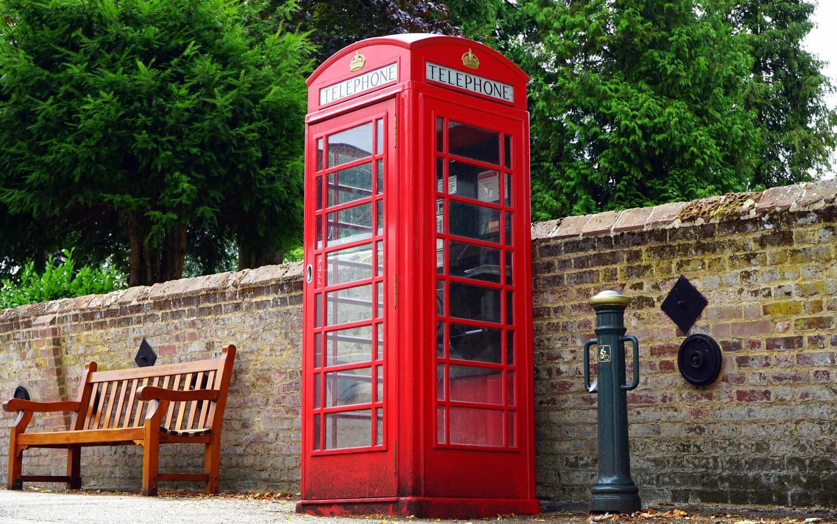 cabine téléphonique Londres rouge