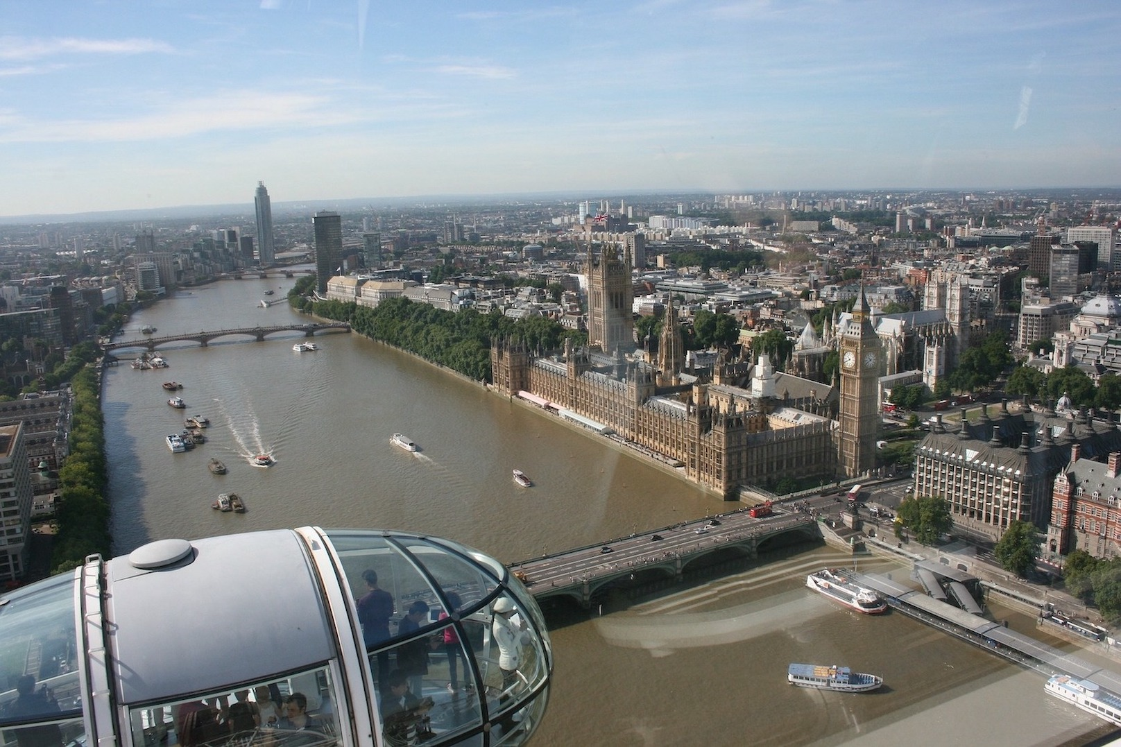 vue Londres London Eye