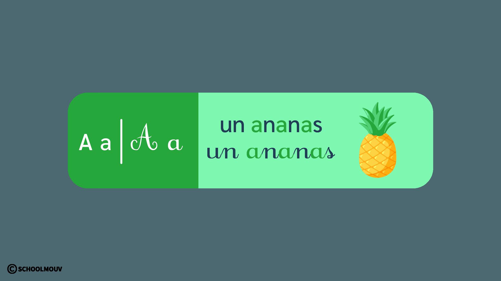 français - apprentissage de la lecture - CP - schoolmouv - la lettre a