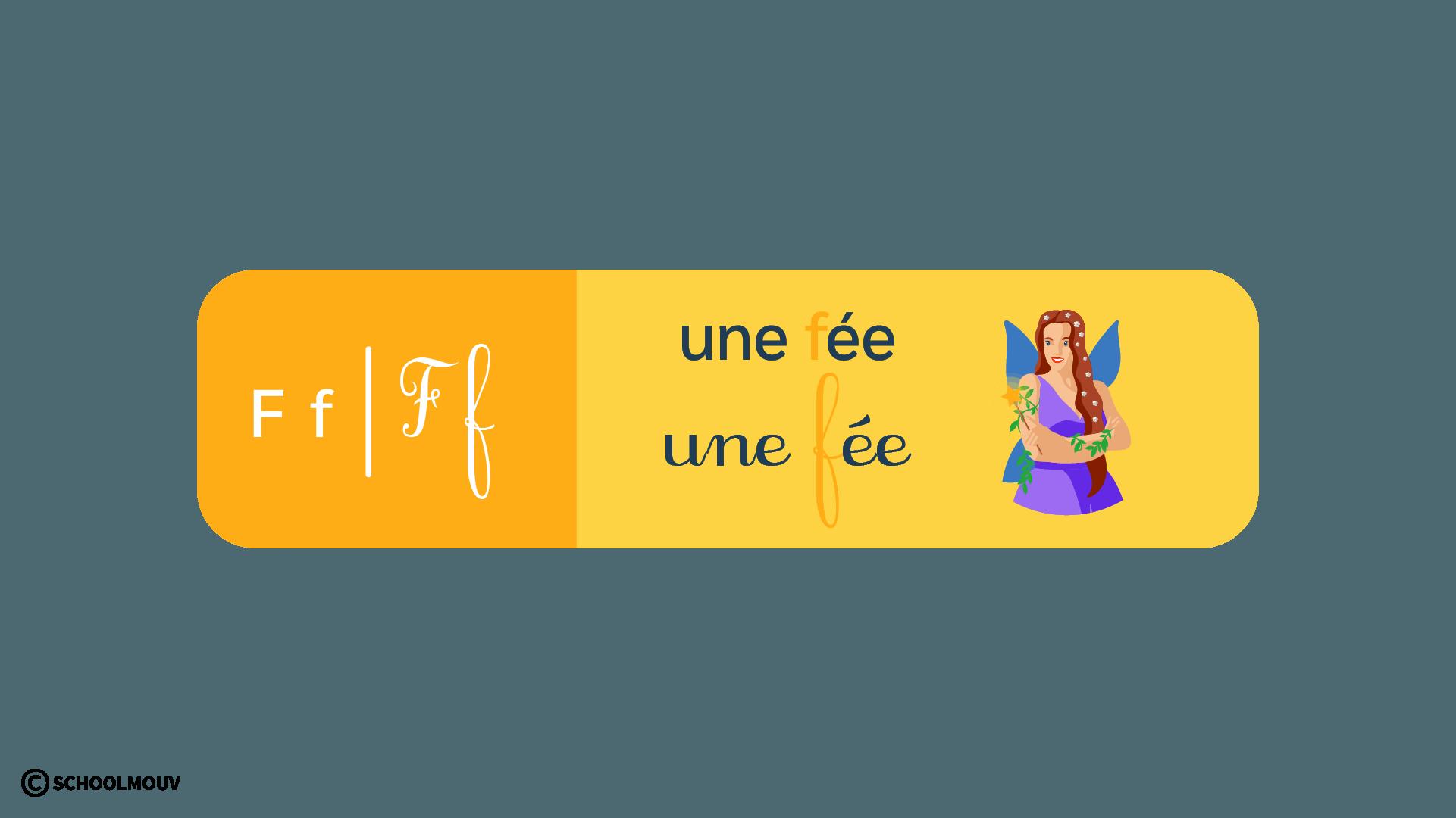 français - apprentissage de la lecture - CP - schoolmouv - la lettre f
