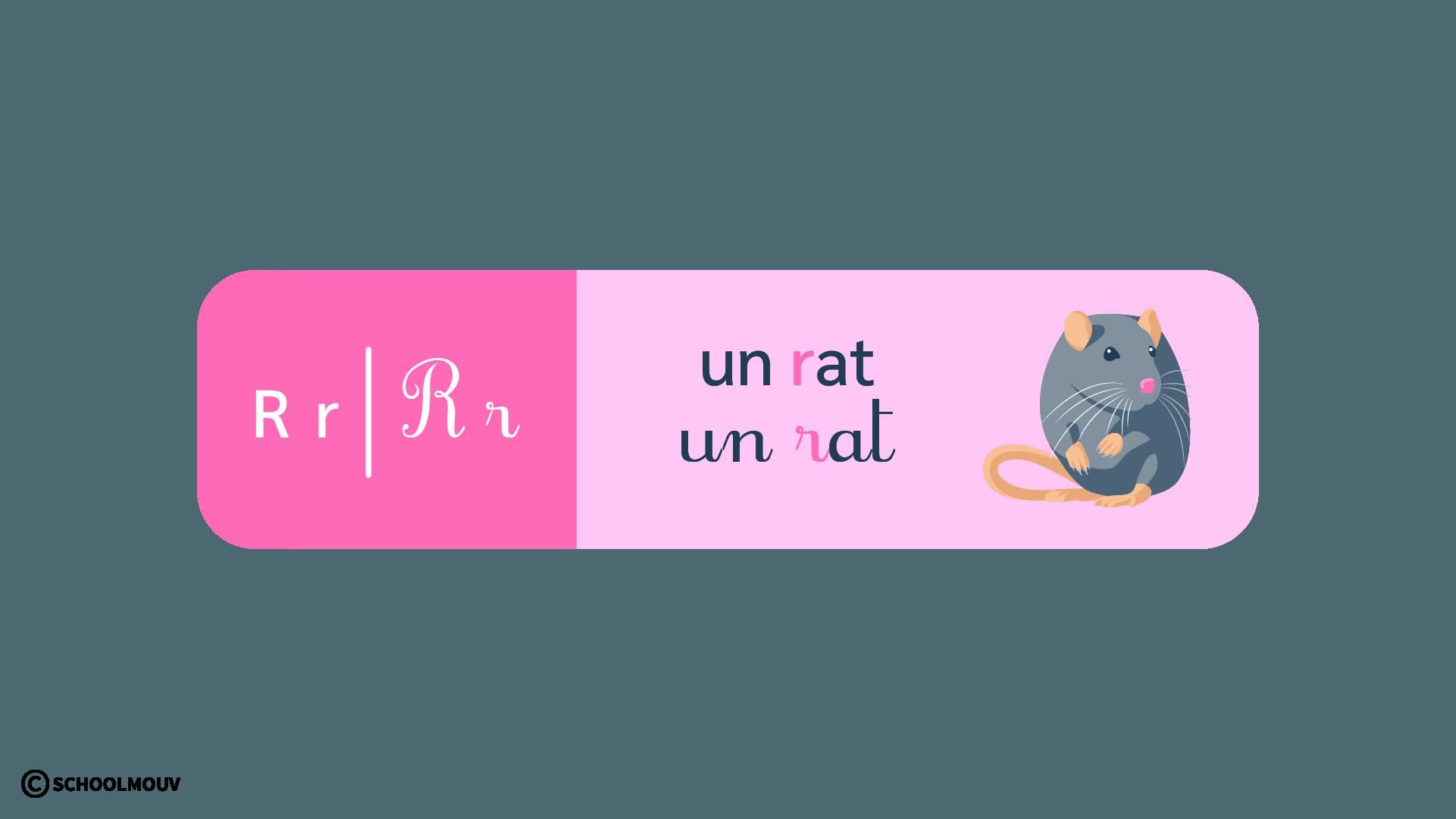 français - apprentissage de la lecture - CP - schoolmouv - la lettre r
