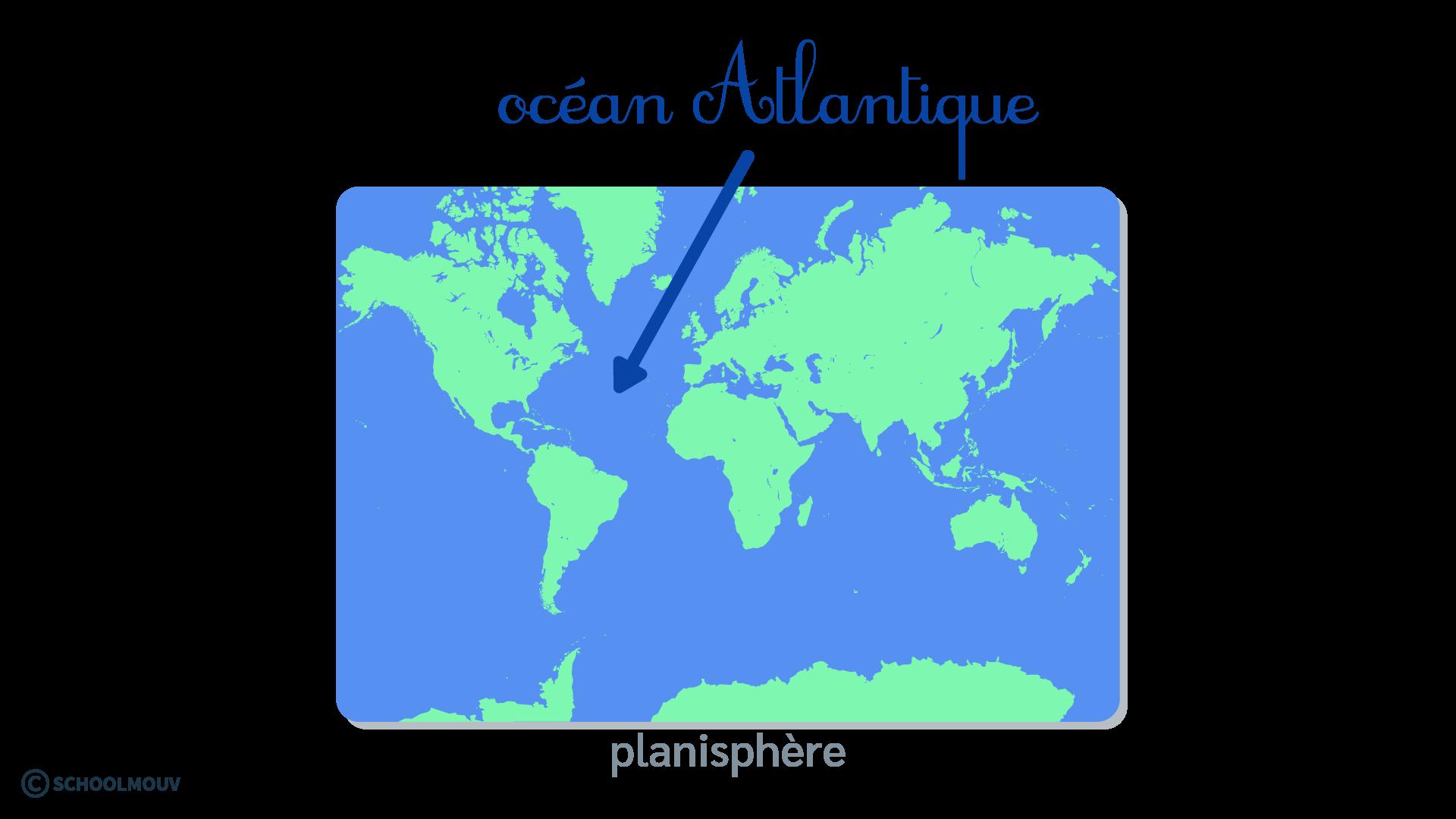 questionner le monde géographie CP se repérer sur Terre globe terrestre planisphère océan Atlantique