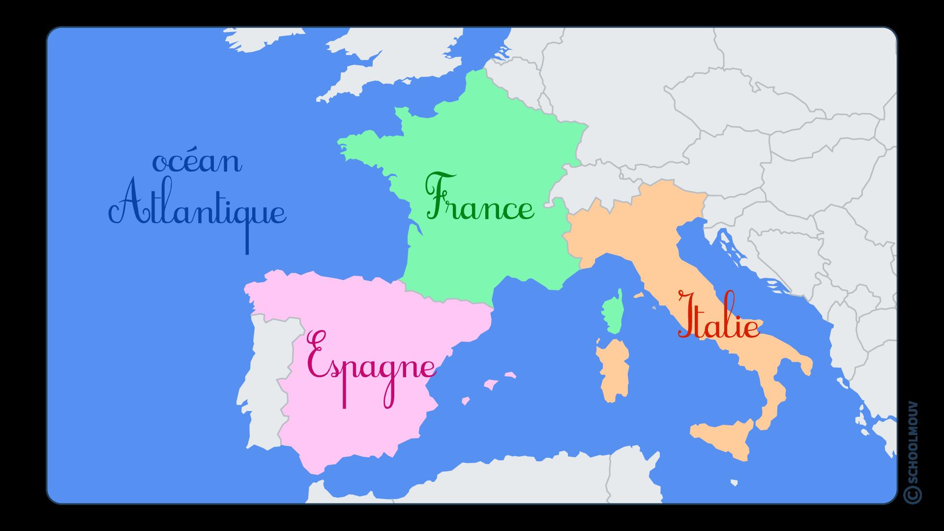 questionner le monde géographie CP se repérer sur Terre globe terrestre planisphère Europe France Italie Espagne