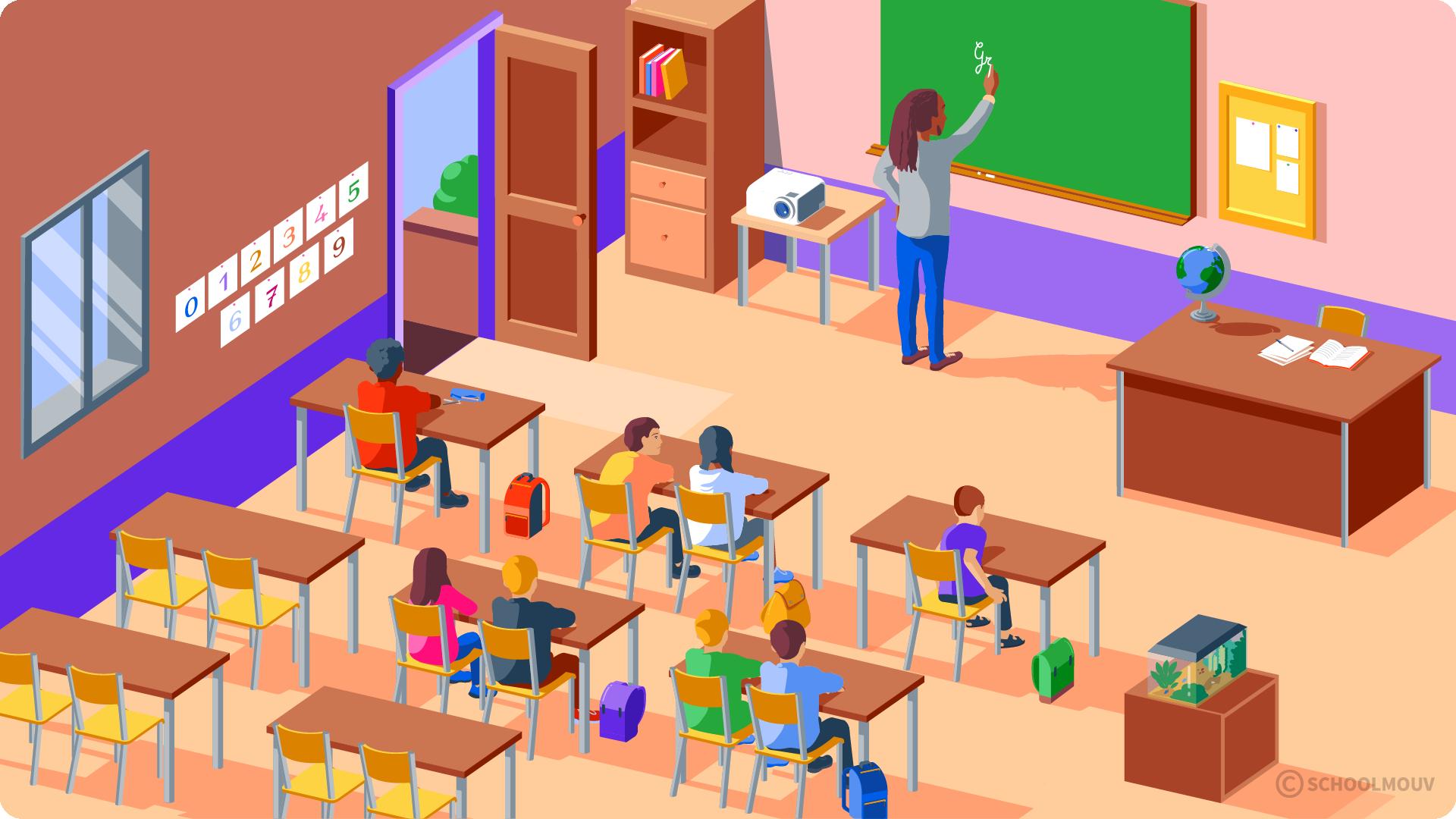 primaire cp se repérer dans un environnement proche l'école salle de classe