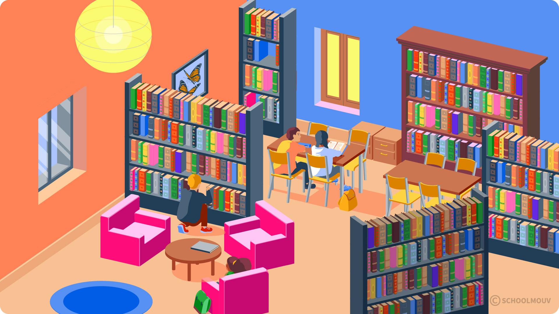 primaire cp se repérer dans un environnement proche l'école bibliothèque