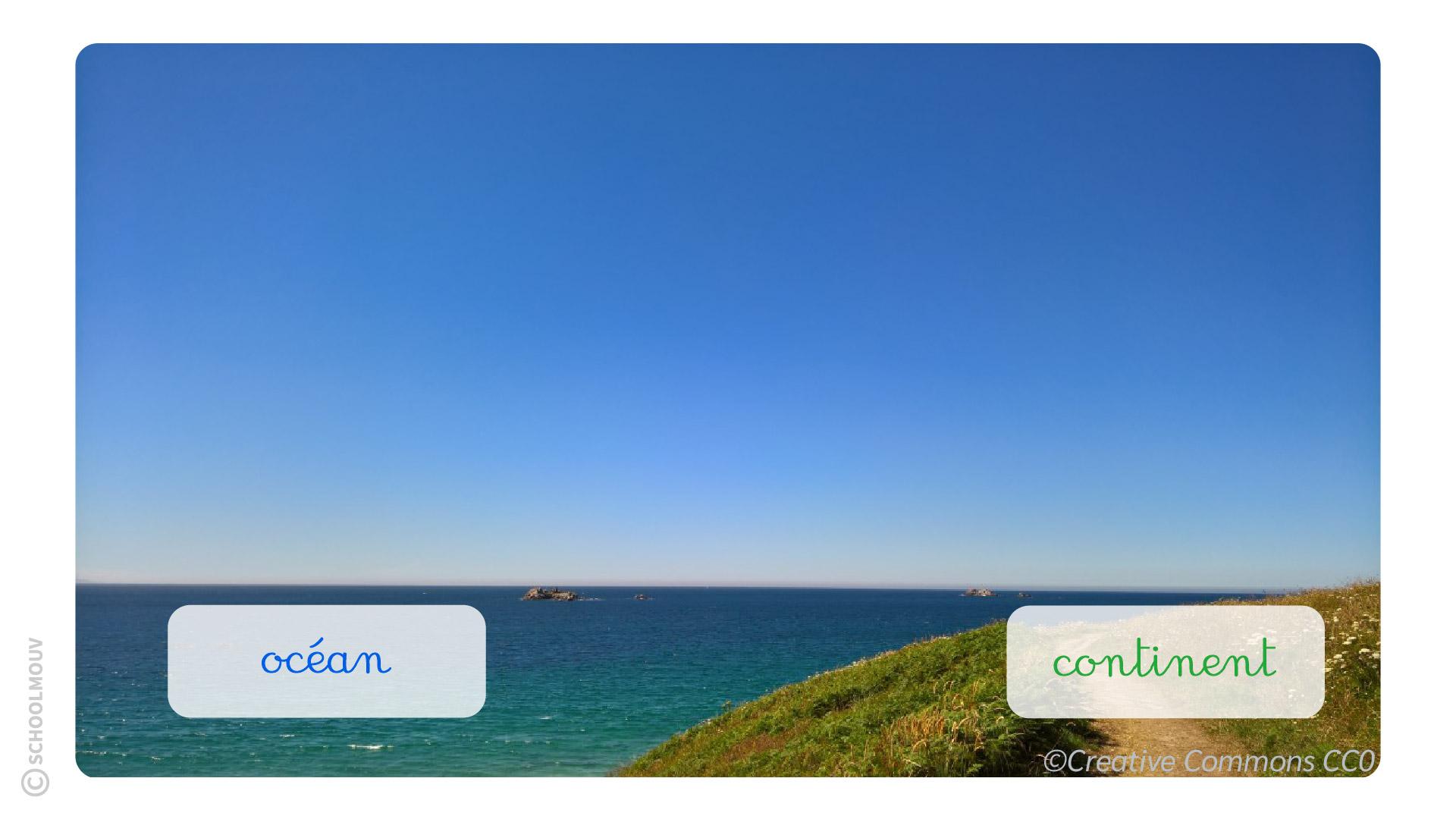 primaire questionner le monde cp les représentation de la Terre océans continents