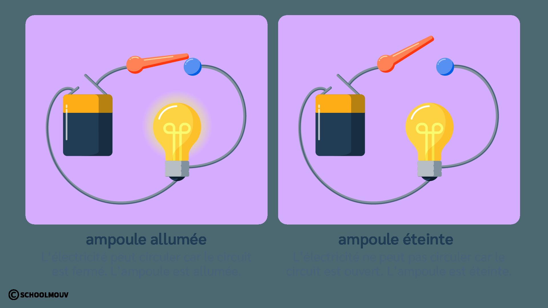 Circuit électrique - Interrupteur - Électricité - Pile - Ampoule - Sciences - CP