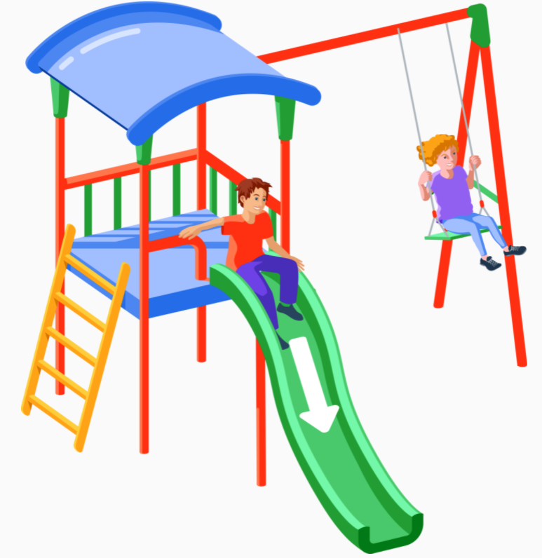 Jeux d'enfants - Toboggan - Balançoire - Aire de jeux - Récréation - École - Square - SchoolMouv - Sciences - CP
