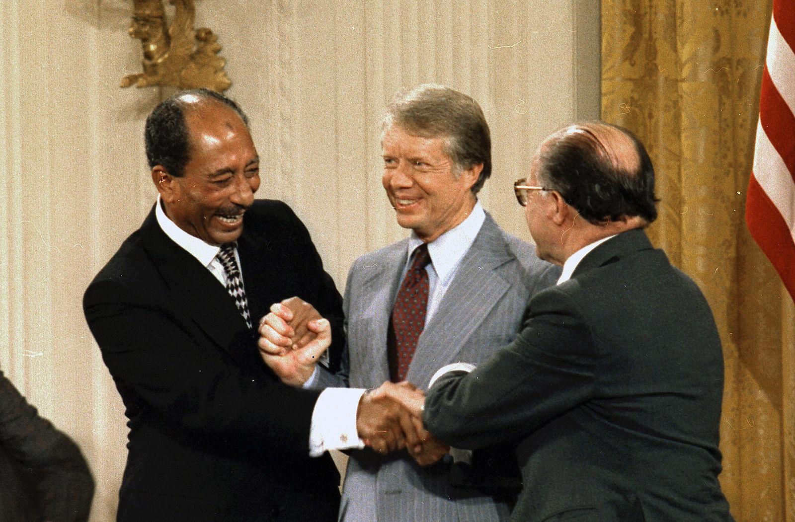 Accords de Camps David,1978, Anouar Al-Sadate, Jimmy Carter et Menahem Begin - Histoire - Terminale- SchoolMouv