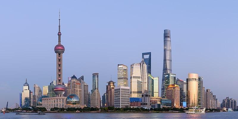 Quartier d'affaire de Lujiazui à Shanghai