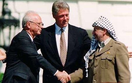 Ytzhak Rabin - Yasser Arafat - Bill Clinton - accords d'Oslo - SchoolMouv - Histoire - Terminale