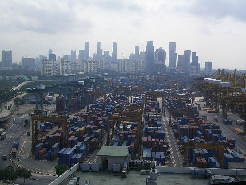 Singapour - port à conteneurs - SchoolMouv - Géographie - Terminale