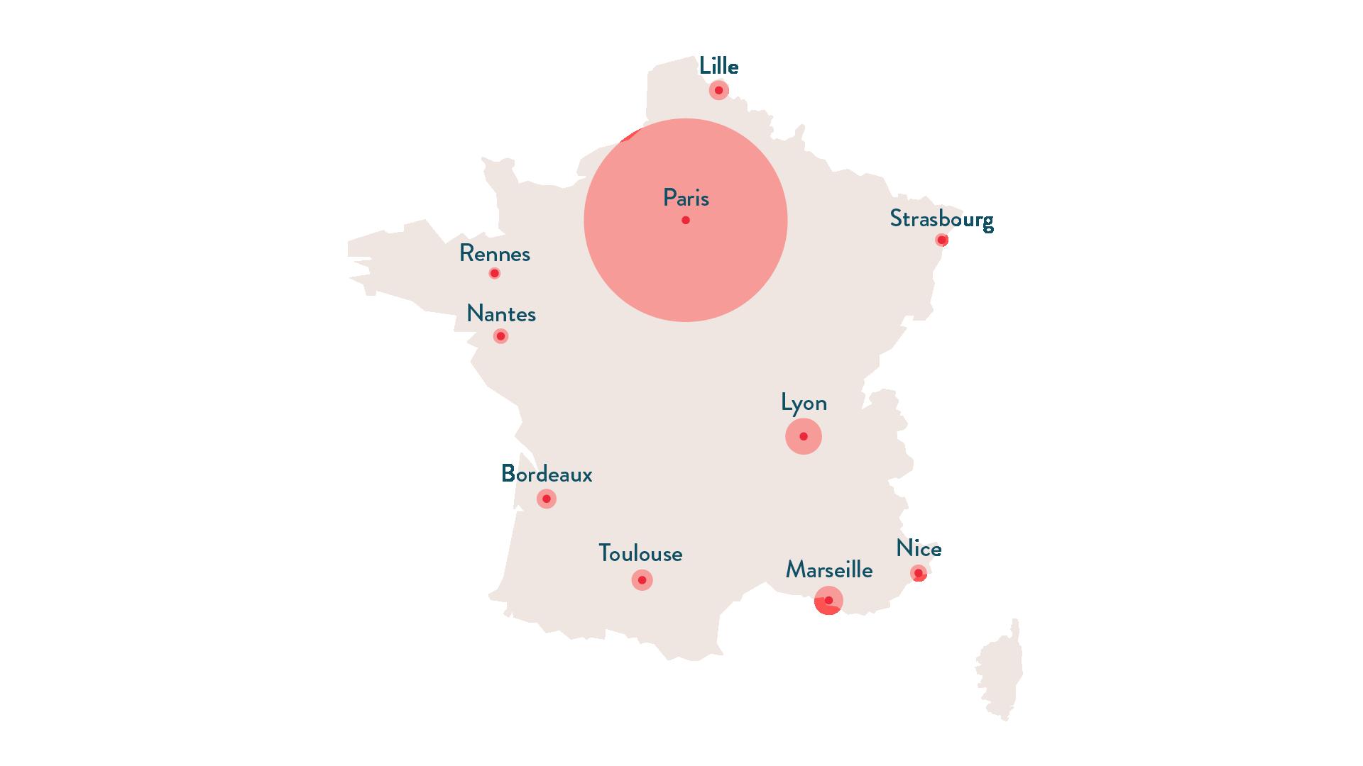 Les dix premières aires urbaines de France