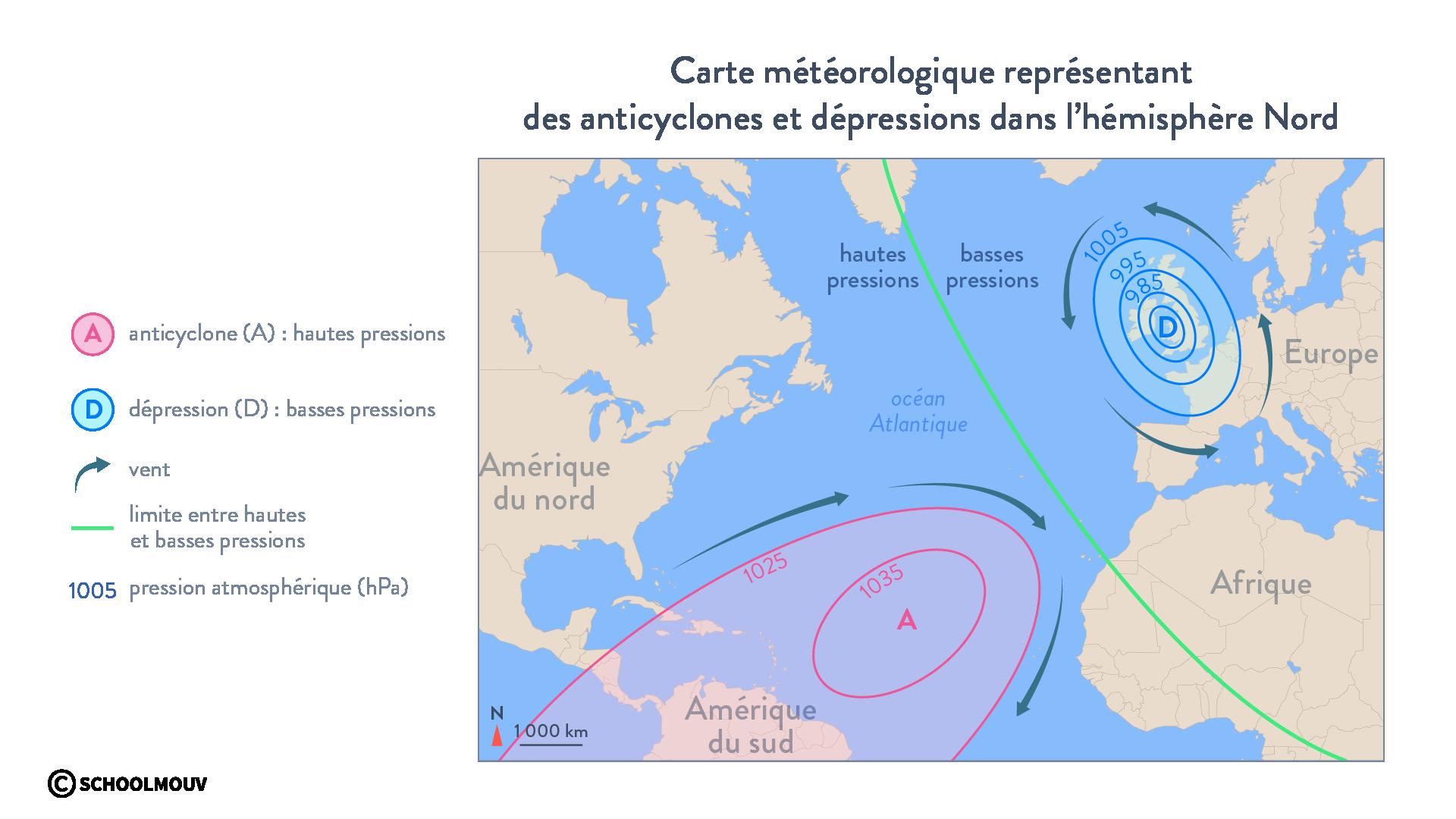 Carte météorologique