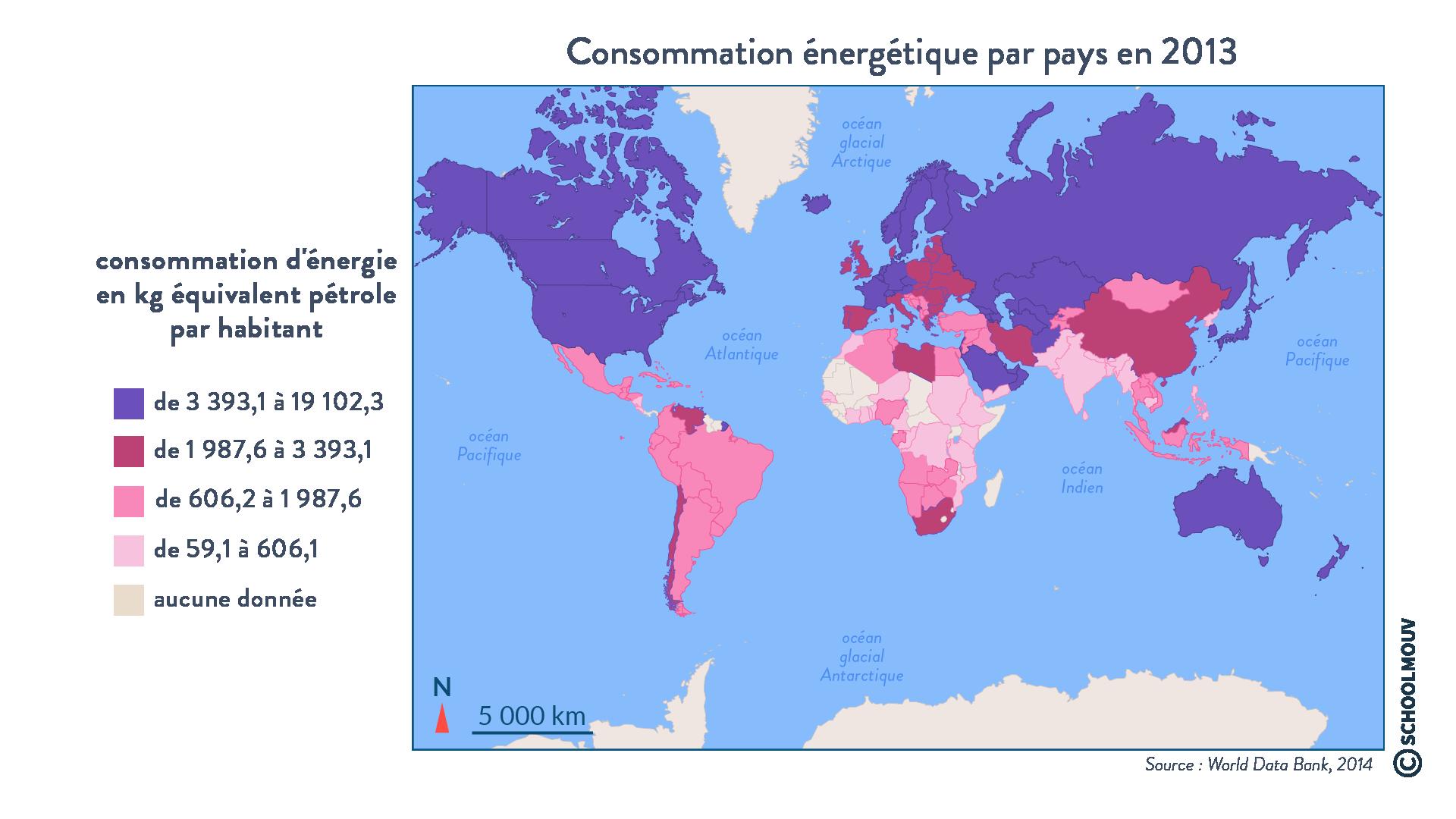 Consommation énergétique par pays