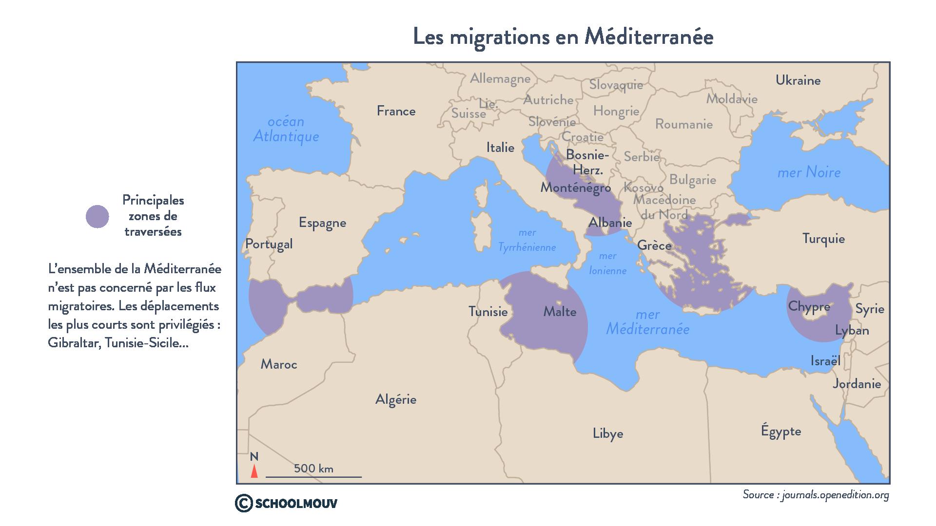 Les migrations en Méditerranée - géographie - terminale - SchoolMouv