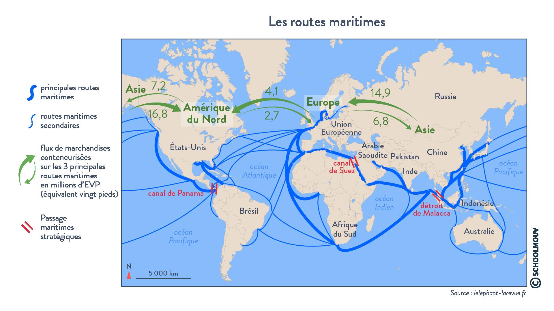 Les routes maritimes - géographie - terminale - SchoolMouv