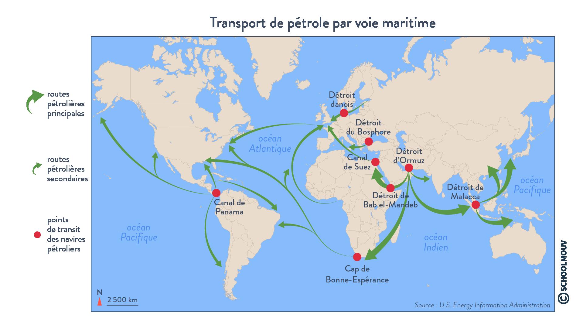 Transport de pétrole par voie maritime - géographie - terminale - SchoolMouv
