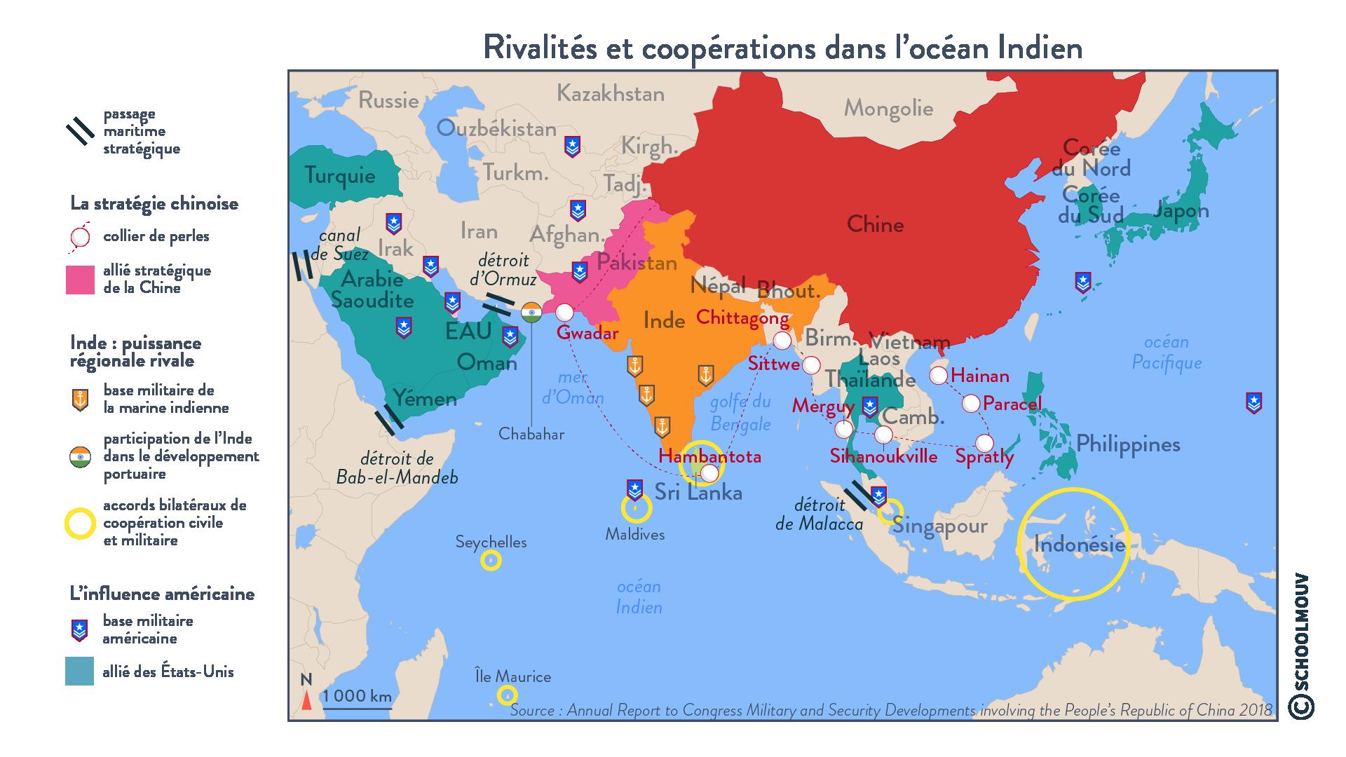 Rivalités et coopérations dans l'océan Indien - géographie - terminale - SchoolMouv