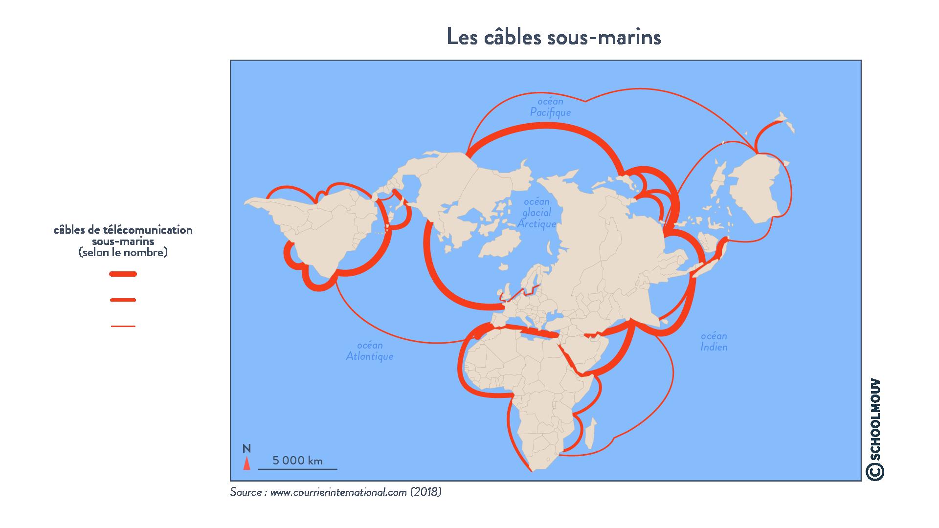 Les câbles sous-marins - géographie - terminale - SchoolMouv