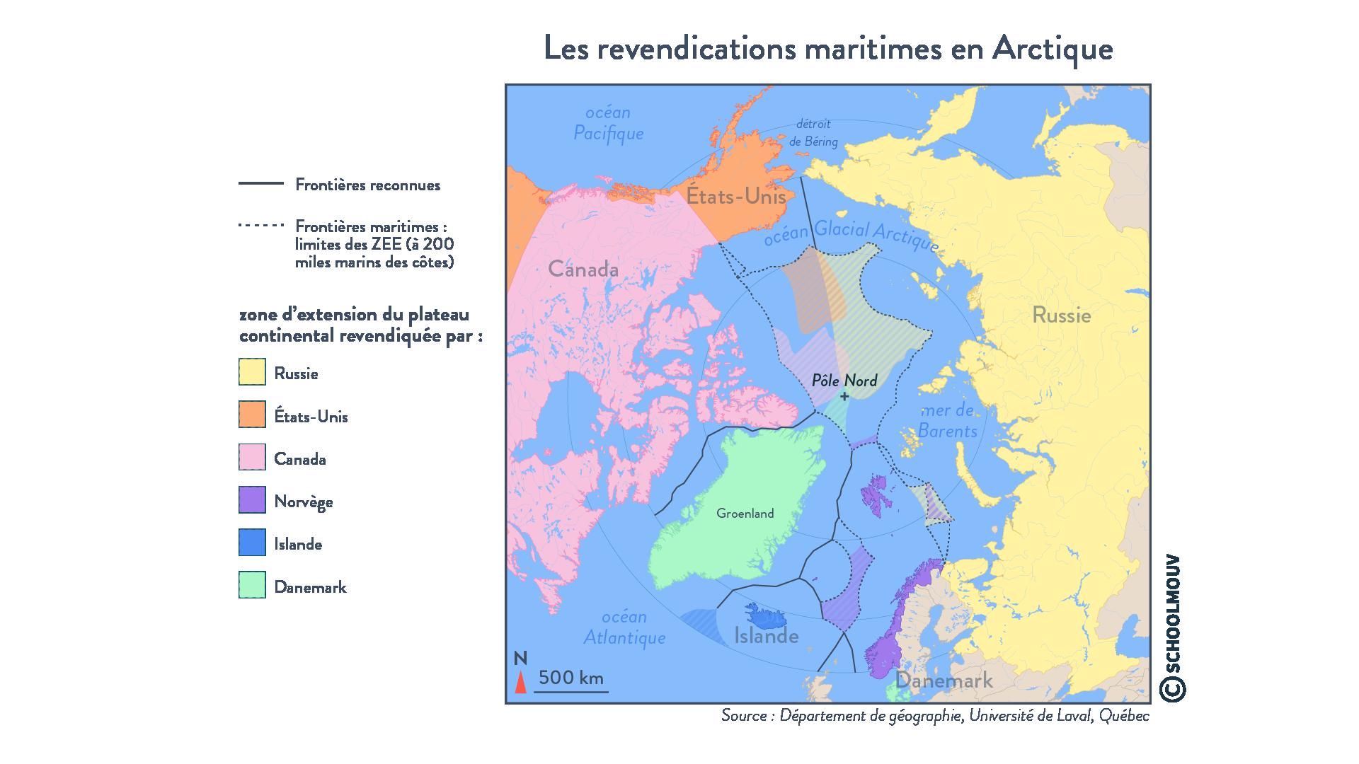 Les revendications maritimes en Arctique - géographie - terminale - SchoolMouv