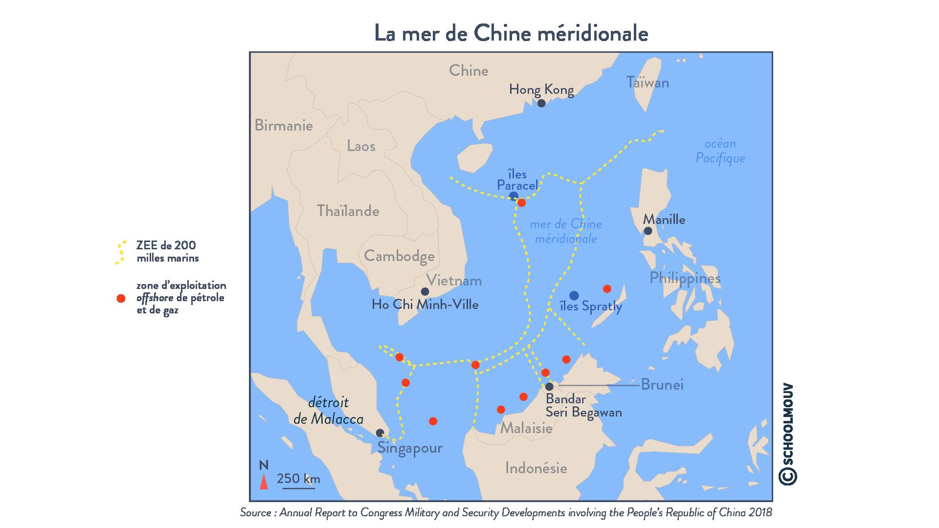 La mer de Chine méridionale - géographie - terminale - SchoolMouv