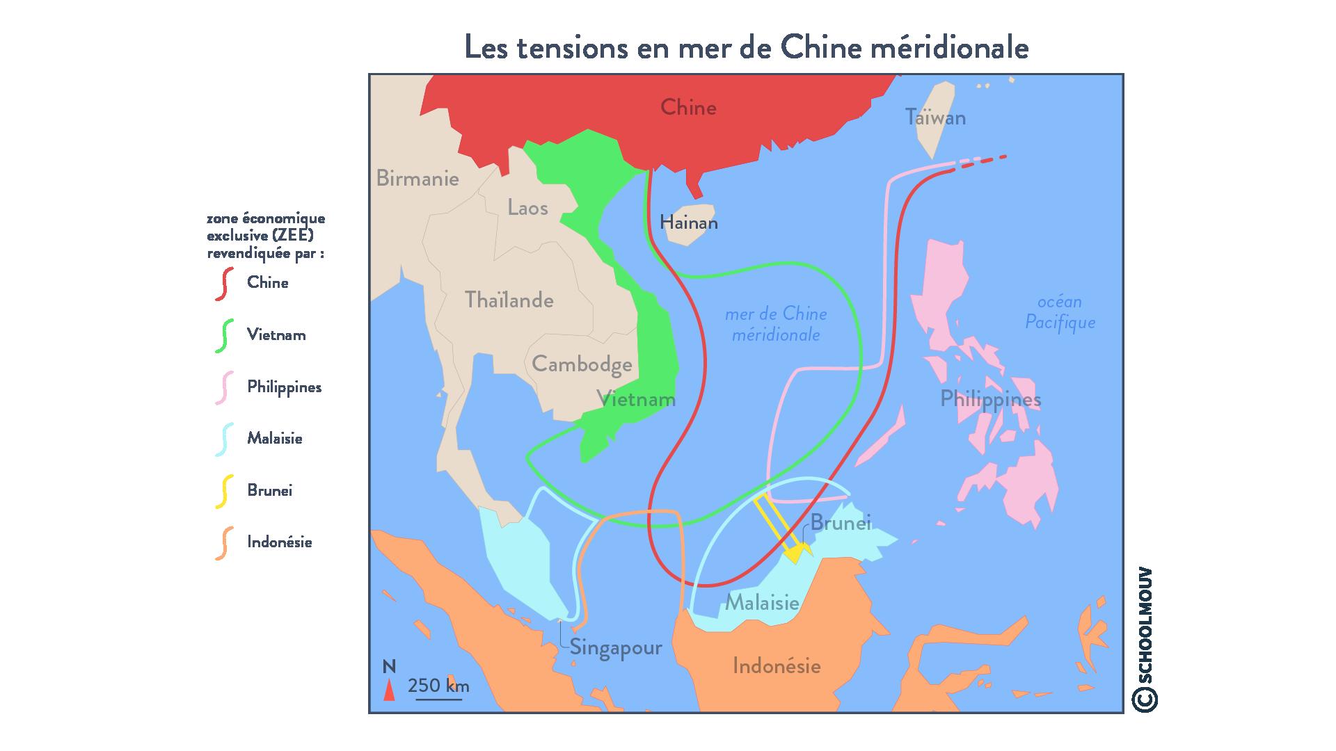 Les tensions en mer de Chine méridionale - géographie - terminale - SchoolMouv
