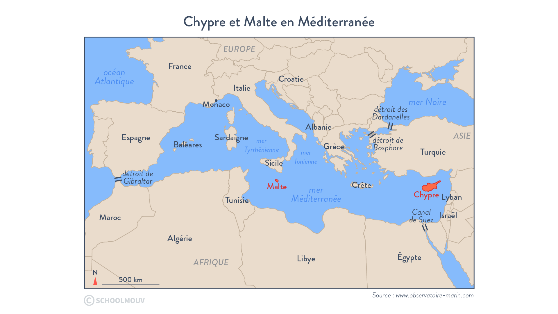 Chypre et Malte en Méditerranée - Géographie - Terminale - SchoolMouv