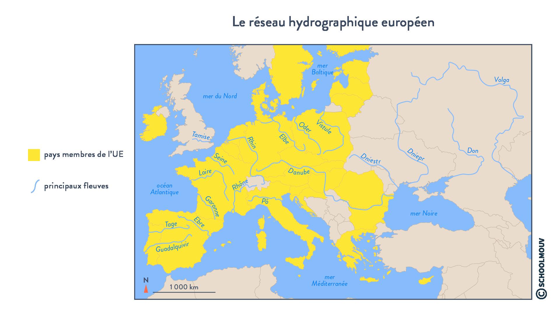 Le réseau hydrographique européen - Géographie - Terminale - SchoolMouv
