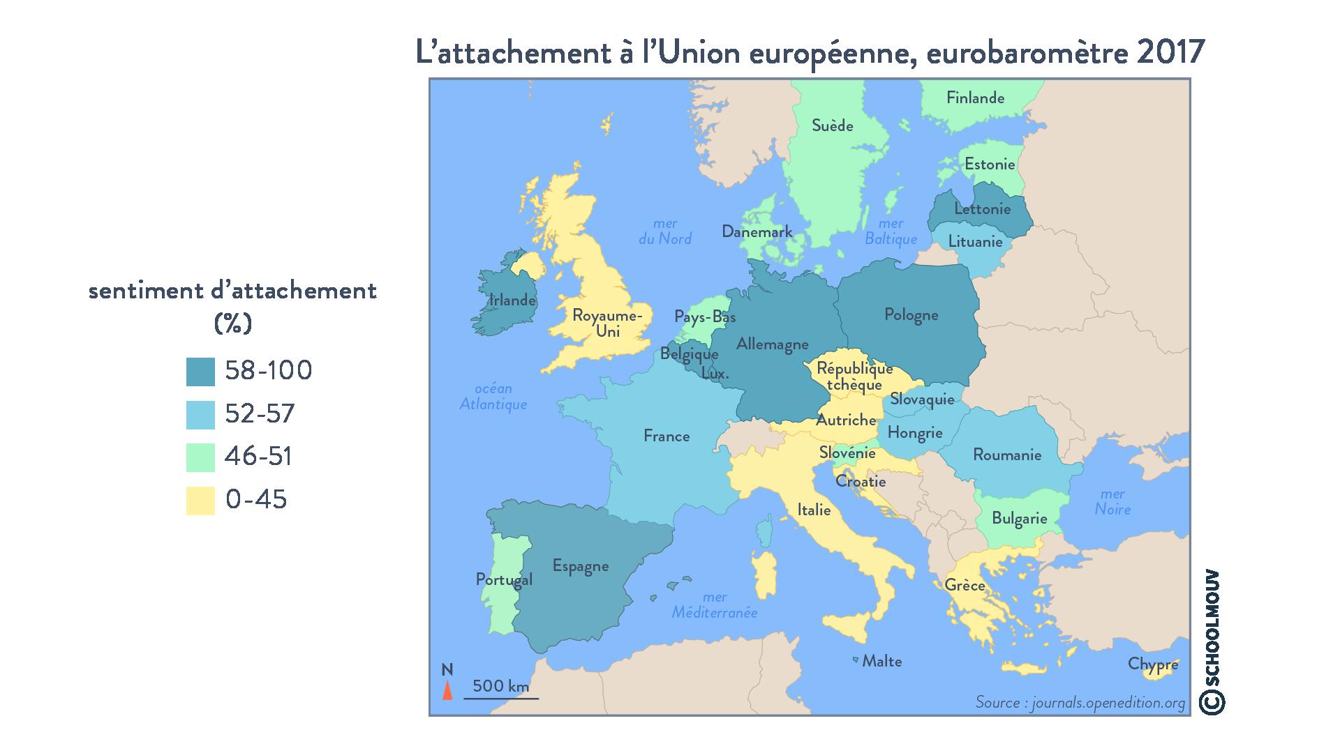 L'attachement à l'Union européenne - Géographie - Terminale - SchoolMouv
