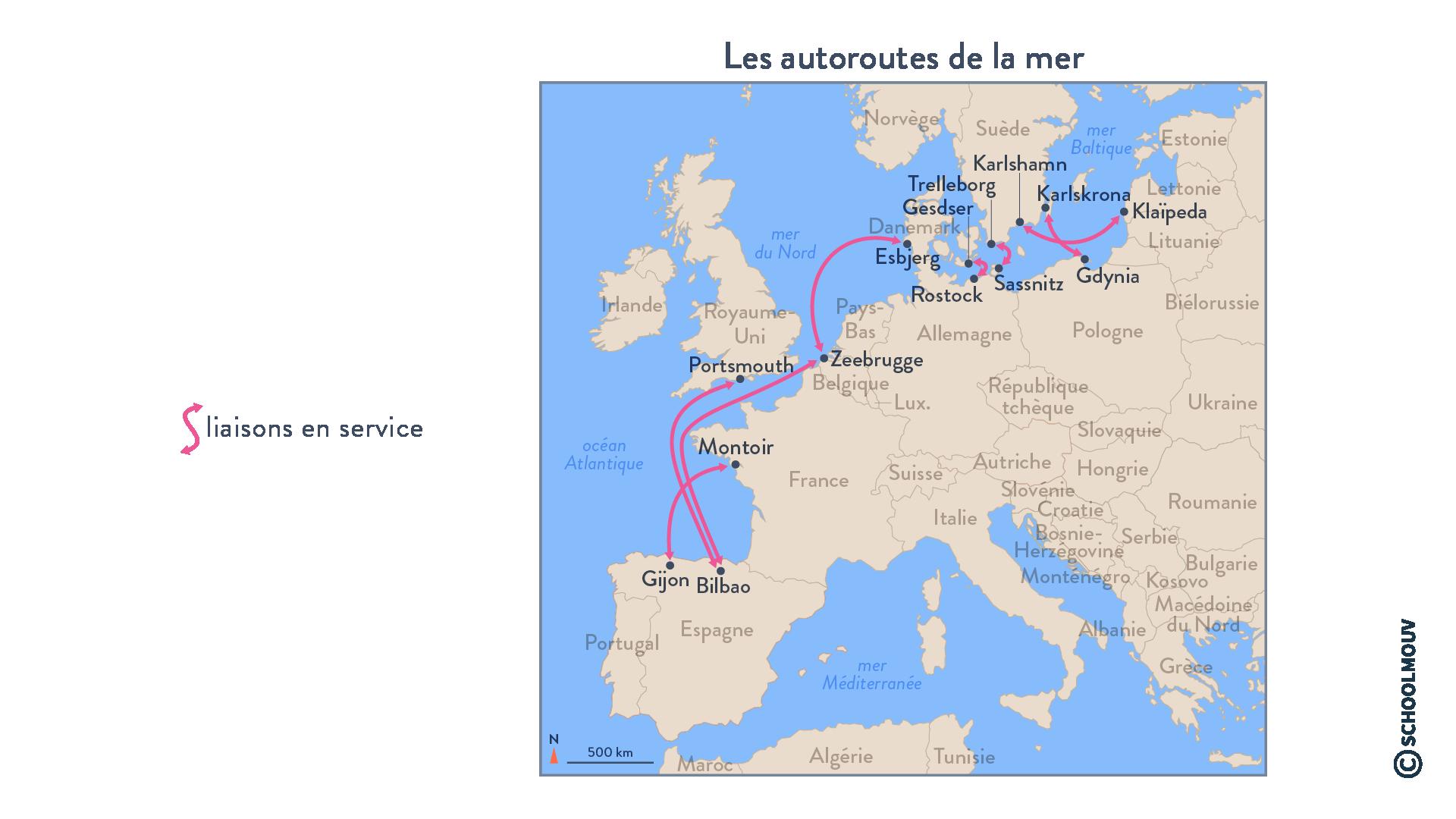 Les autoroutes de la mer - Géographie - Terminale - SchoolMouv