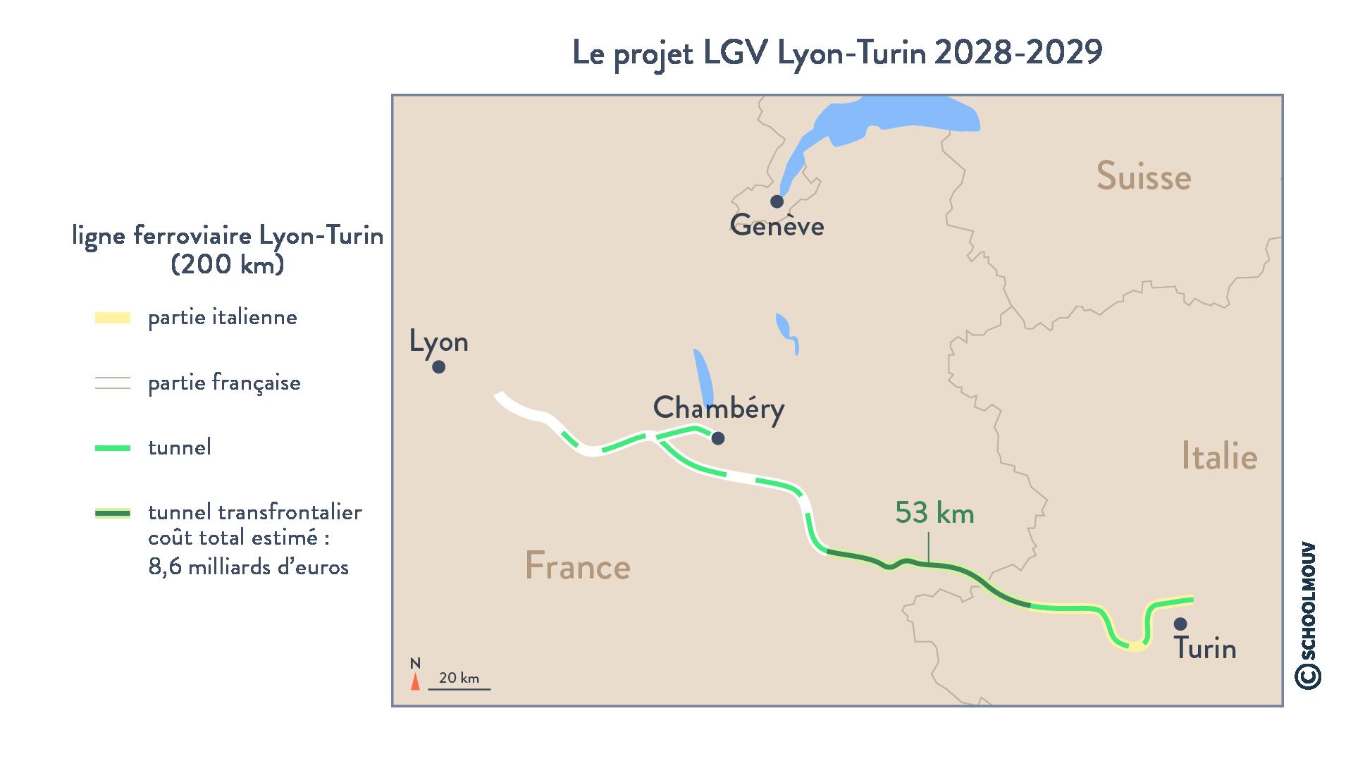 Le projet LGV Lyon-Turin - Géographie - Terminale - SchoolMouv