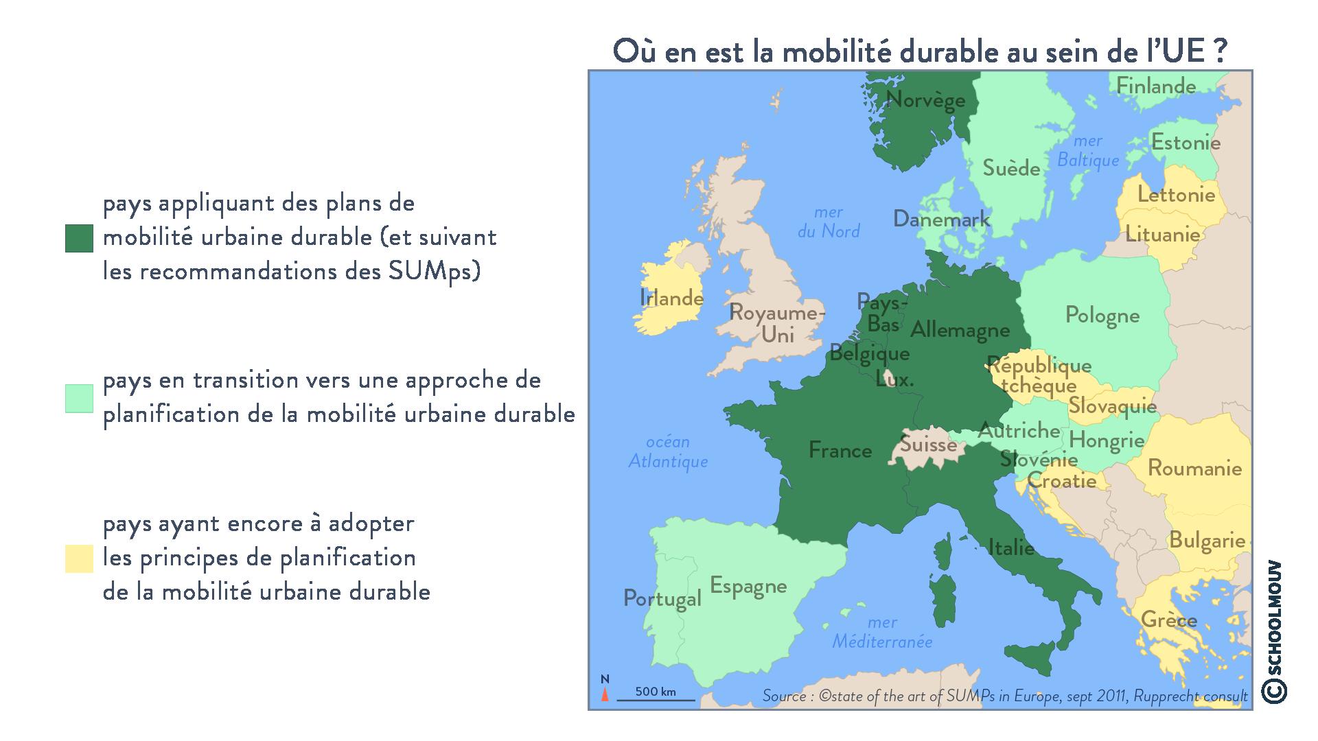 Où en est la mobilité durable au sein de l'UE? - Géographie - Terminale - SchoolMouv