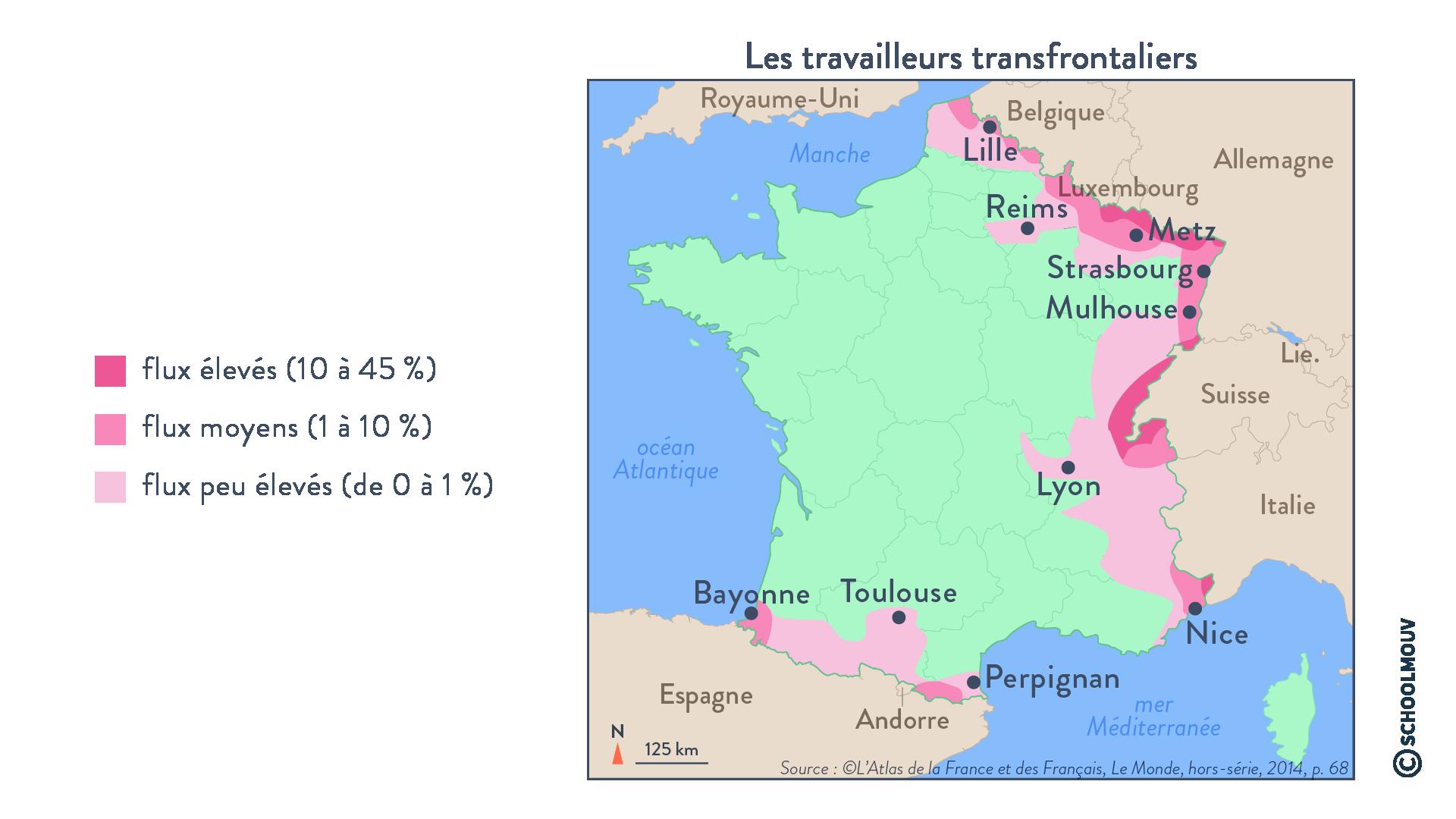 Les travailleurs transfrontaliers - Géographie - Terminale - SchoolMouv