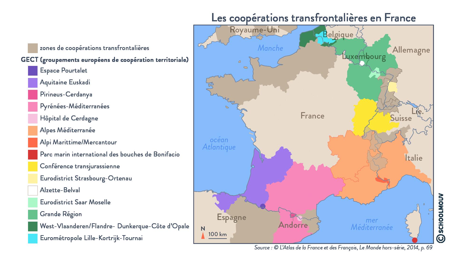 Les coopérations transfrontalières en France- Géographie - Terminale - SchoolMouv