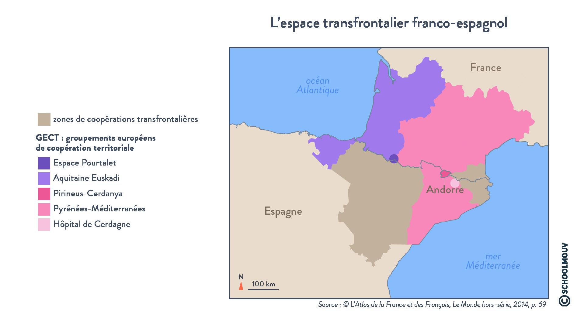 L'espace transfrontalier franco-espagnol - Géographie - Terminale - SchoolMouv
