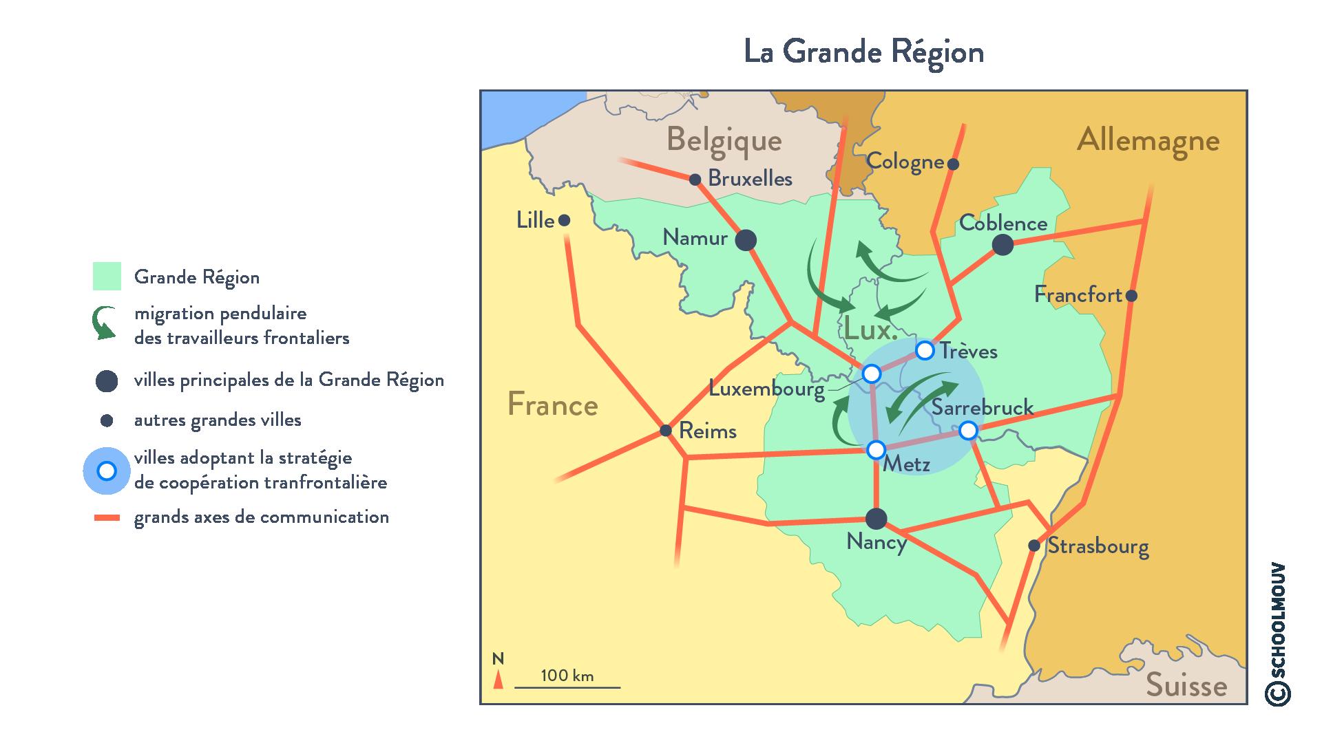 La Grande Région - Géographie - Terminale - SchoolMouv