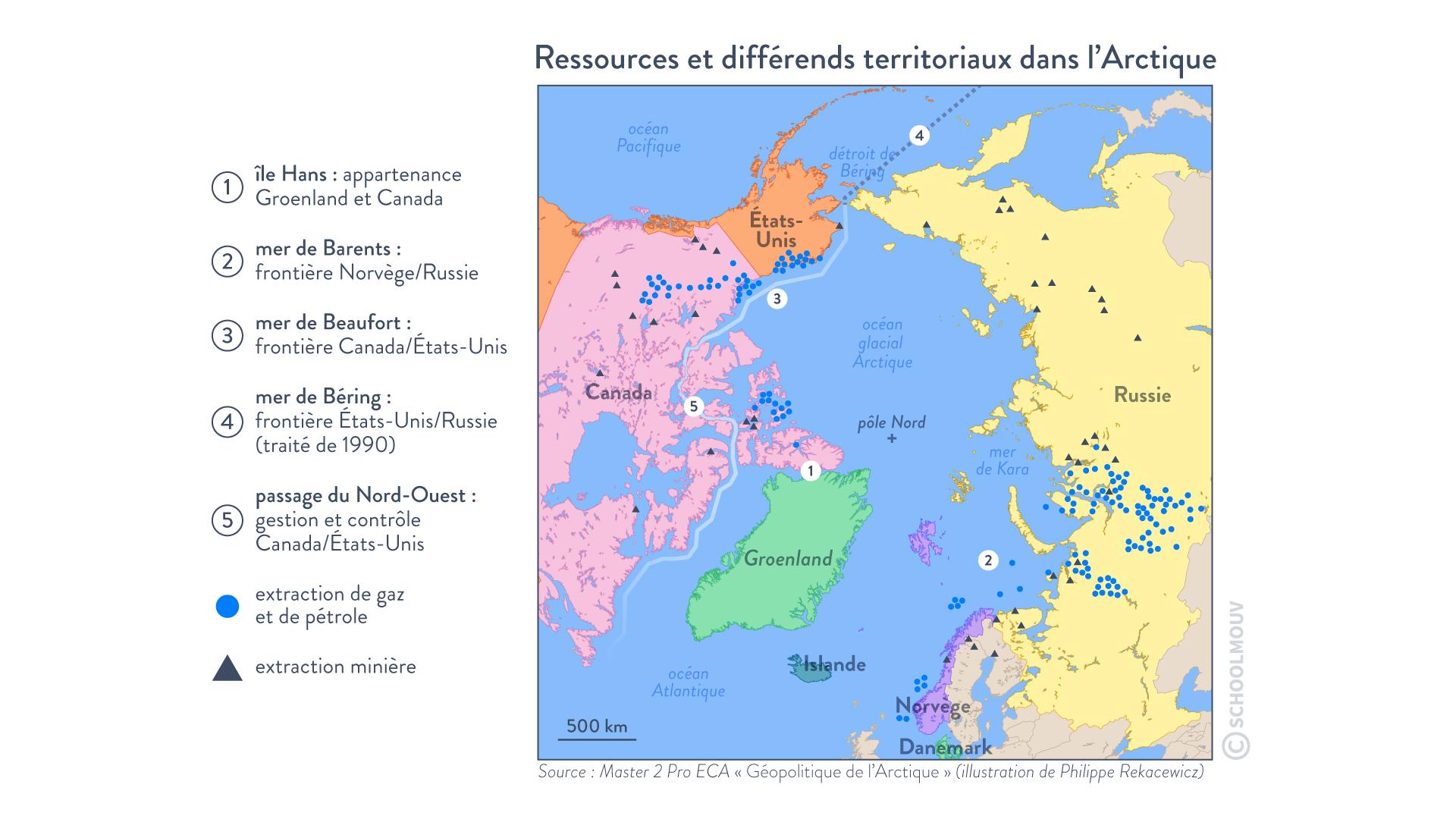 Ressources et différends territoriaux dans l'arctique conquête océans hggsp histoire géographie géopolitique et sciences politique spécialité terminale