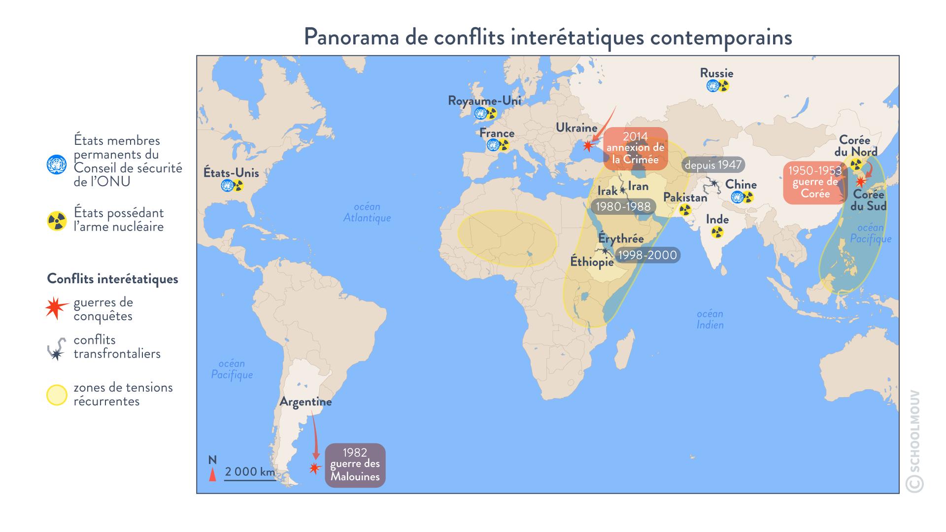 Les conflits dans le monde depuis 1990 terminale histoire géographie géopolitique et sciences politiques