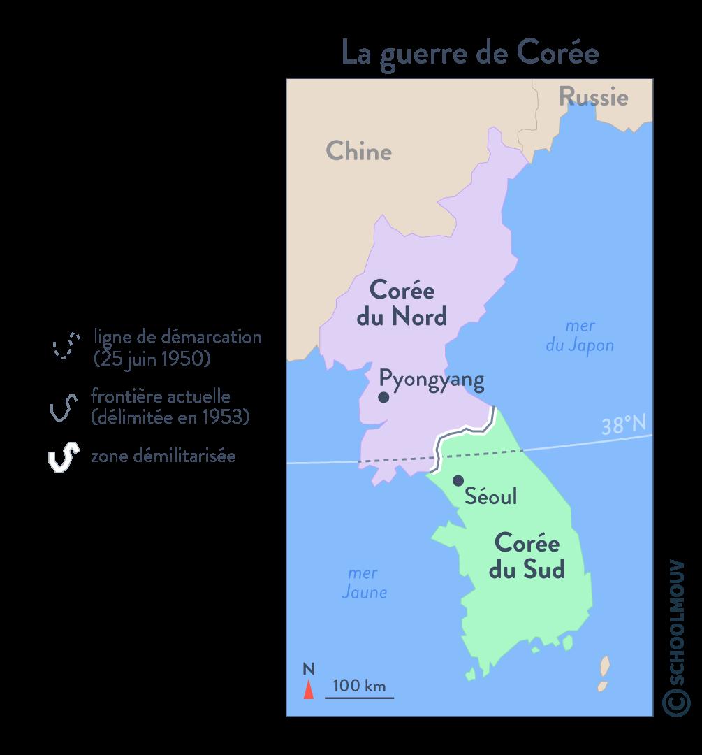 guerre de Corée faire la guerre faire la paix histoire géographie géopolitique et sciences politiques terminale