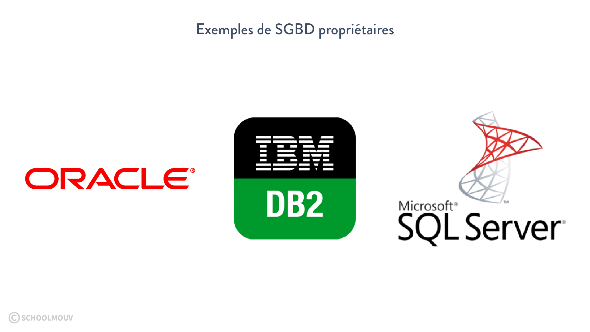 SGBD propriétaires