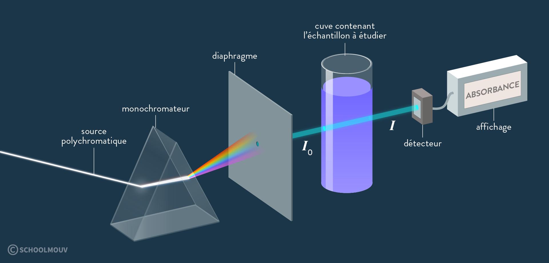 physique chimie terminale propriétés spectrales des substances chimiques et solutions spectrophotomètre