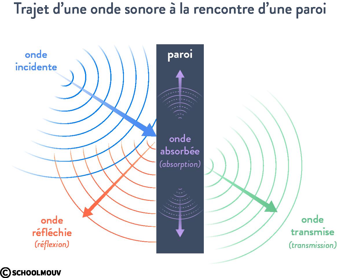 intensité sonore atténuation acoustique par absorption scoolmouv terminale physique chimie