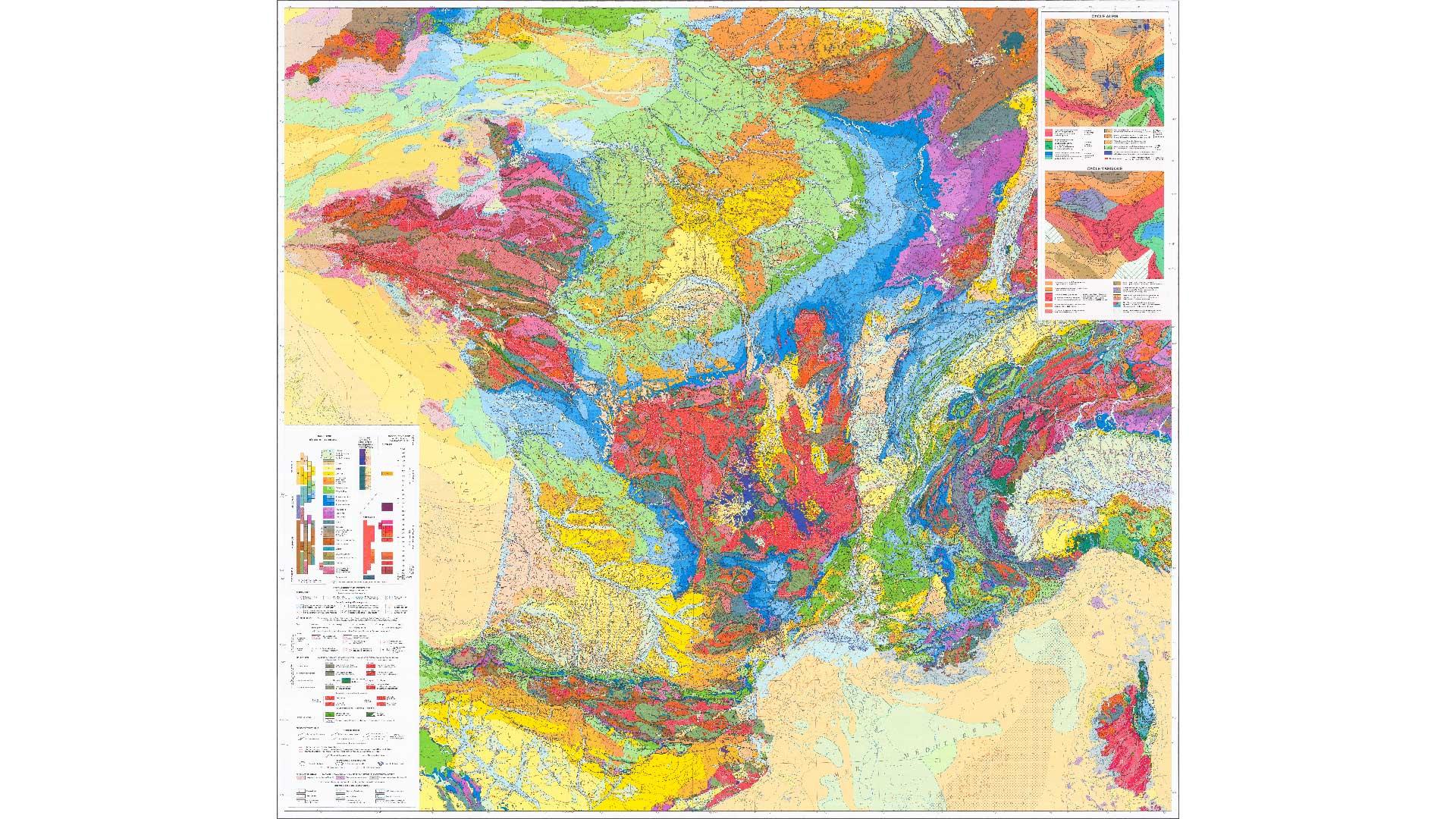 Carte géologique de la France ©BRGM